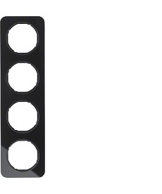 R.1 Ramka 4-krotna, szkło, czarny