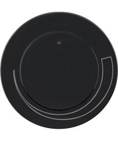 R.1/R.3 Płytka czołowa z pokrętłem do regulatora obrotów, czarny, połysk