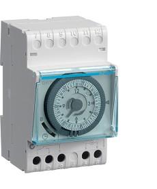 Zegar analogowy tygodniowy z rezerwą chodu 230V 1NO 16A