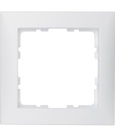 Ramka 1-krotna; biały, mat; S.1