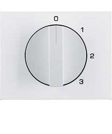 Płytka czołowa z pokrętłem do łącznika 3-pozycyjnego z 0; biały; K.1