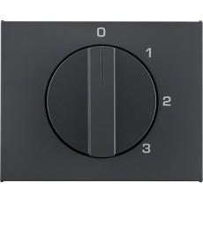 Płytka czołowa z pokrętłem do łącznika 3-pozycyjnego z 0; antracyt mat, lakierow