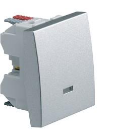 Łącznik klawiszowy schodowy z opcją podświetlenia; Systo; 2 moduły; alu; 10A/250