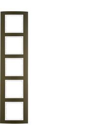 Ramka 5-krotna Berker B.3 alu, brązowy/biały