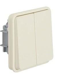 W.1 Łącznik świecznikowy osobne zaciski wejściowe IP55 biały