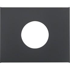 Płytka czołowa do łącznika i sygnalizatora świetlnego E10 antracyt mat, lakiero