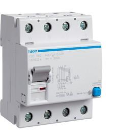 RCCB Wyłącznik różnicowoprądowy 4P 125A/30mA Typ AC