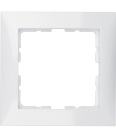 Ramka 1-krotna; biały, połysk; S.1