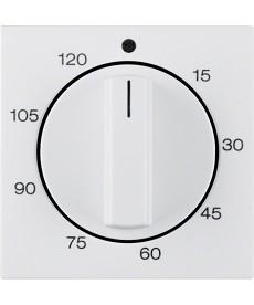 Płytka czołowa z pokrętłem regulacyjnym do mechanicznego łącznika czasowego; bia