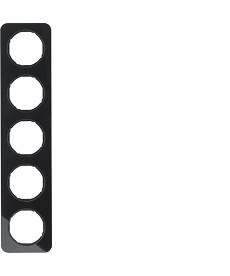 R.1 Ramka 5-krotna, szkło, czarny