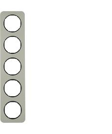 R.1 Ramka 5-krotna, stal szlachetna/czarny