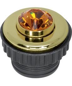 Przycisk Topaz; złoty; TS Crystal (Swarovski)