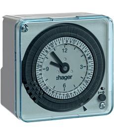 Zegar analogowy tygodniowy z rezerwą chodu 230 V 1P 16 A