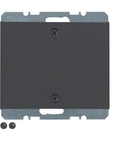 Zaślepka z elementem centralnym montowanym na śruby; antracyt mat, lakierowany;
