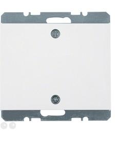 Zaślepka z elementem centralnym montowanym na śruby; biały; K.1