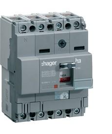 Wyłącznik mocy x160 4P 25kA 80A