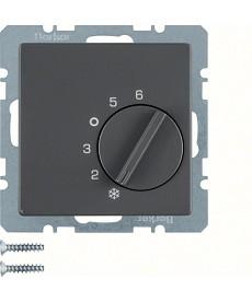 Regulator temperatury pomieszczenia ze stykiem zmiennym Q.1/Q.3 antracyt, aksami