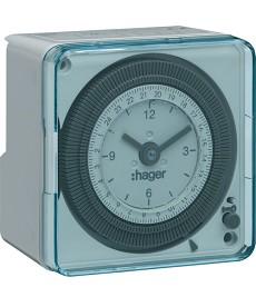 Zegar analogowy dobowy bez rezerwy chodu w obudowie 230V 1NO 16A