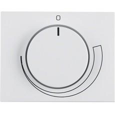 Płytka czołowa z pokrętłem regulacyjnym do regulatora obrotów; biały; K.1