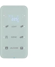 R.1 Sensor dotykowy 3-krotny z reg. temp. konfigurowalny, biały, szkło
