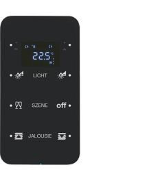 R.1 Sensor dotykowy 3-krotny z reg. temp. konfigurowalny, czarny, szkło