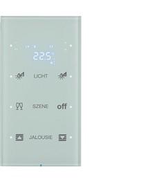 R.3 Sensor dotykowy 3-krotny z reg. temp. konfigurowalny, biały, szkło