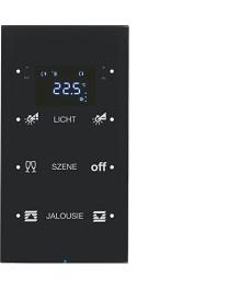 R.3 Sensor dotykowy 3-krotny z reg. temp. konfigurowalny, czarny, szkło