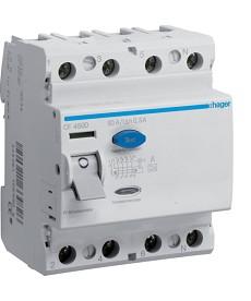 RCCB Wyłącznik różnicowoprądowy 4P 80A/300mA Typ A