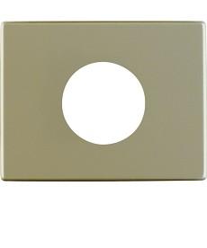 Płytka czołowa do łącznika i sygnalizatora świetlnego E10; jasny brąz, metal; Ar