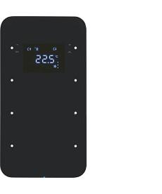 R.1 Sensor dotykowy 3-krotny z regulatorem temperatury, czarny, szkło