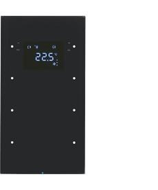 R.3 Sensor dotykowy 3-krotny z regulatorem temperatury, czarny, szkło