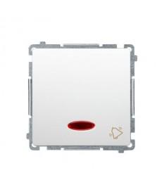 Łącznik dzwonek podświetlany p\t bmd1l.01/11 biały basic moduł kont