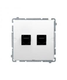 Gniazdo komputerowe rj45 x2 kat5 bmf52.02/11 białe basic moduł k
