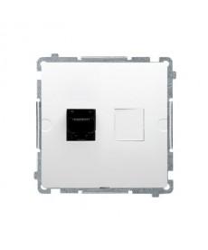 Gniazdo komputerowe rj45 x1 kat5 bmf51.02/11 białe basic moduł k