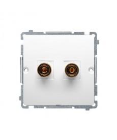 Gniazdo głośnikowe bmgl2.02/11 biały basic moduł kontakt-simon
