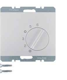 Regulator temperatury pomieszczenia ze stykiem zmiennym Berker K.5 alu