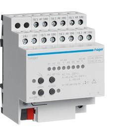Elektroniczny sterownik grzewczy 6-krotny 230 V AC, KNX