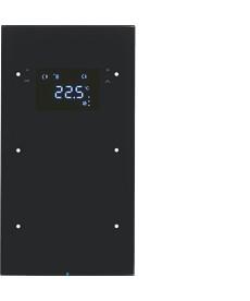R.3 Sensor dotykowy 2-krotny z regulatorem temperatury, czarny, szkło