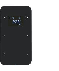 R.1 Sensor dotykowy 2-krotny z regulatorem temperatury, czarny, szkło