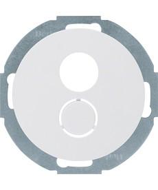 R.classic Płytka czołowa do gniazda głośnikowego, biały, połysk