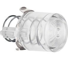 Przycisk do łącznika i sygnalizatora E10; jasny przezroczysty; Serie 1930/Glas
