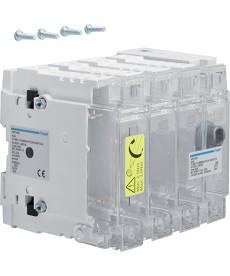 Rozłącznik izolacyjny z bezpiecznikami 4-polowy NH000 63 A