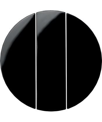 R.1/R.3 Klawisze do łącznika 3-krotnego, czarny, połysk