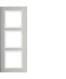 B.7 Ramka 3-krotna pionowa, stal szlachetna/biały