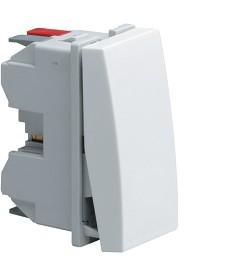 Łącznik klawiszowy uniwersalny (schodowy); Systo; 1 moduł; biały; 10A/250V