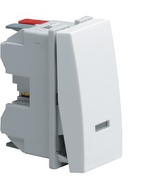 Łącznik klawiszowy schodowy z opcją podświetlenia; Systo; 1 moduł; biały; 10A/25