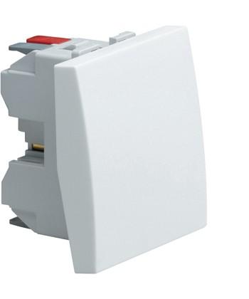 Łącznik klawiszowy uniwersalny (schodowy); Systo; 2 moduły; biały; 10A/250V