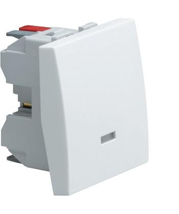 Łącznik klawiszowy schodowy z opcją podświetlenia; Systo; 2 moduły; biały; 10A/2
