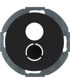 R.classic Płytka czołowa do gniazda głośnikowego, czarny, połysk