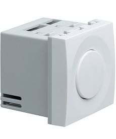 Ściemniacz przyciskowy, trafo konwencjonalne, 400VA Systo 2 moduły biały 230V